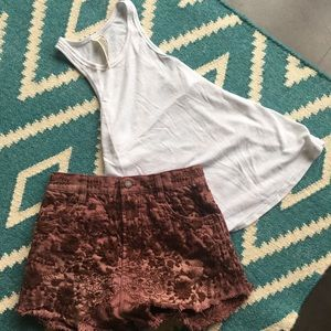 Set of 2: Free People Shorts 27 + Tank S